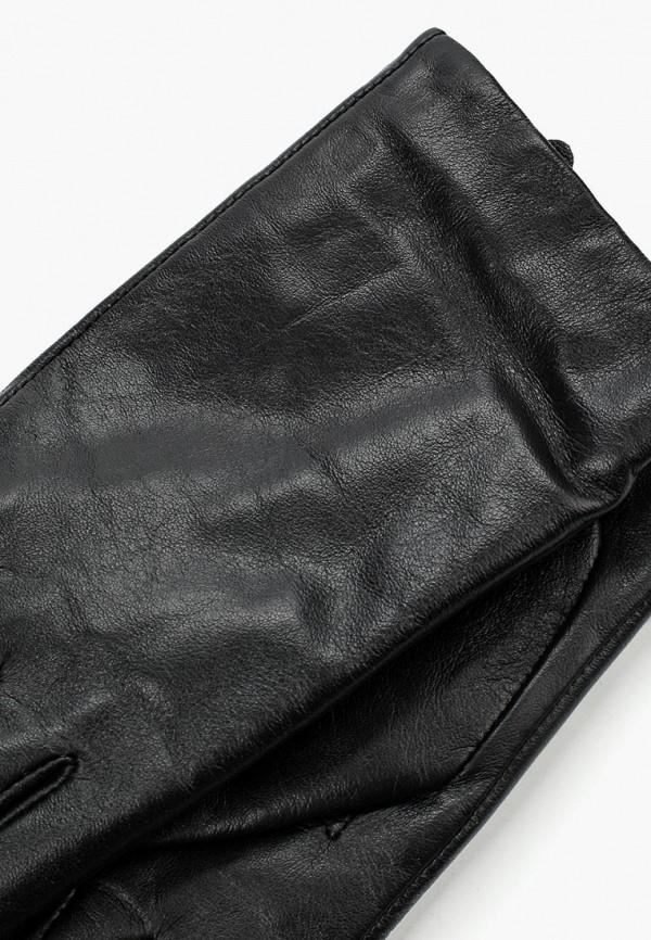 Фото 4 - женские кожаные перчатки United Colors of Benetton черного цвета