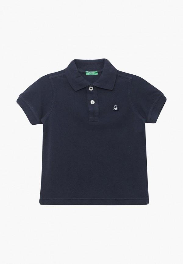 поло united colors of benetton для мальчика, синее