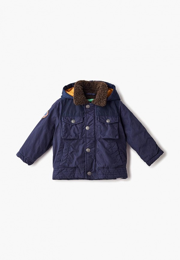 куртка united colors of benetton для мальчика, синяя