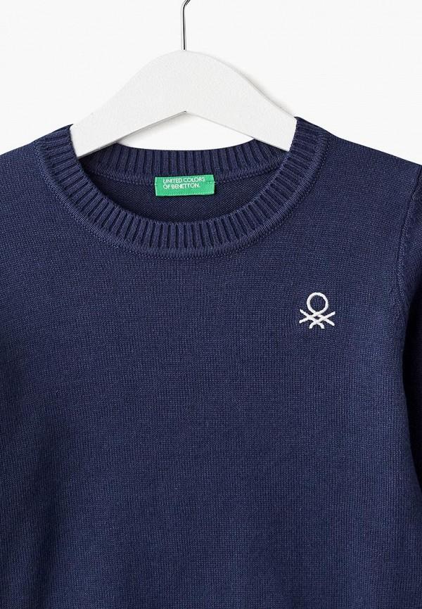 Фото 3 - Джемпер United Colors of Benetton синего цвета