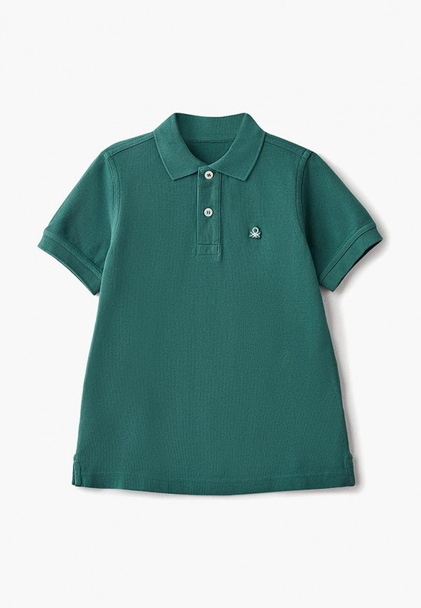 Купить Поло United Colors of Benetton, UN012EBBZZI7, зеленый, Осень-зима 2018/2019