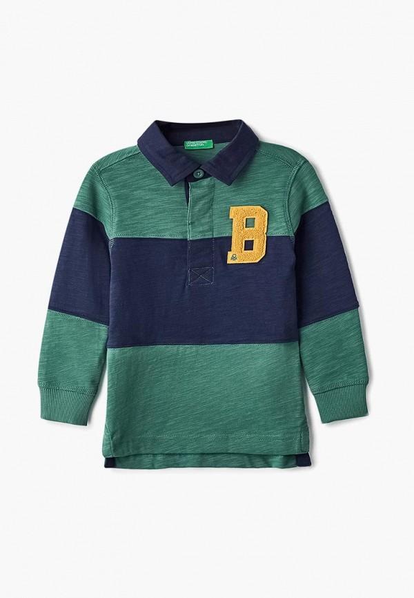 Купить Поло United Colors of Benetton, UN012EBBZZL6, зеленый, Осень-зима 2018/2019
