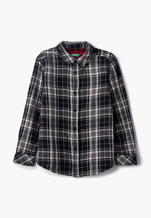 рубашка united colors of benetton для мальчика, черная