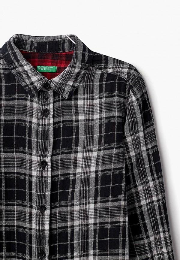 Фото 3 - Рубашку United Colors of Benetton черного цвета