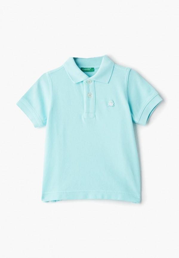поло united colors of benetton для мальчика, голубое