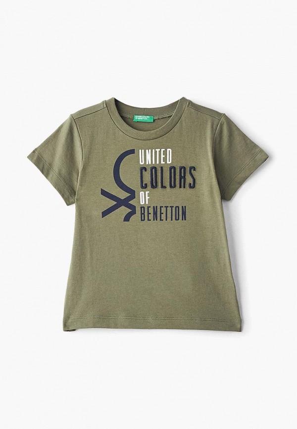 футболка с коротким рукавом united colors of benetton для мальчика, хаки