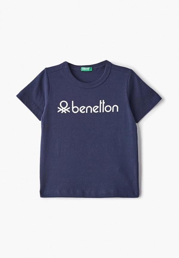 футболка с коротким рукавом united colors of benetton для мальчика, синяя