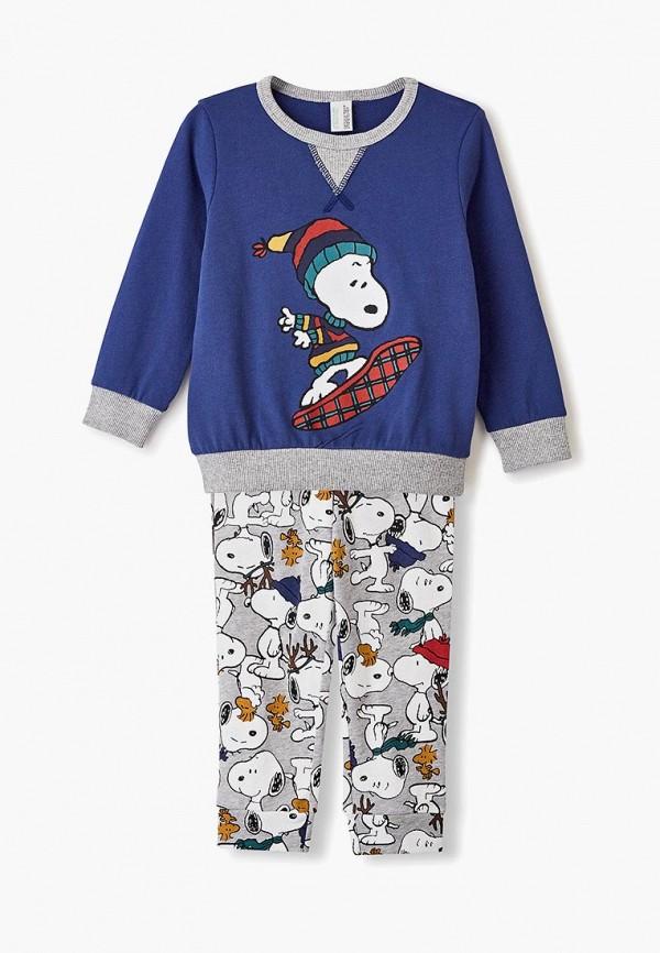 пижама united colors of benetton для мальчика, разноцветная