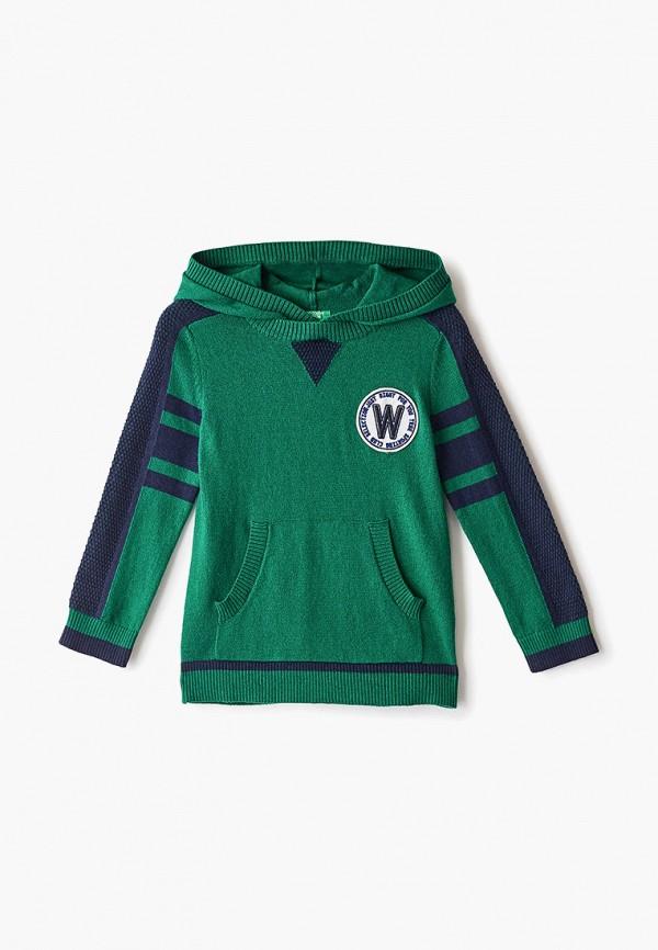 худи united colors of benetton для мальчика, зеленые