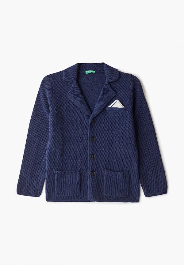 кардиган united colors of benetton для мальчика, синий