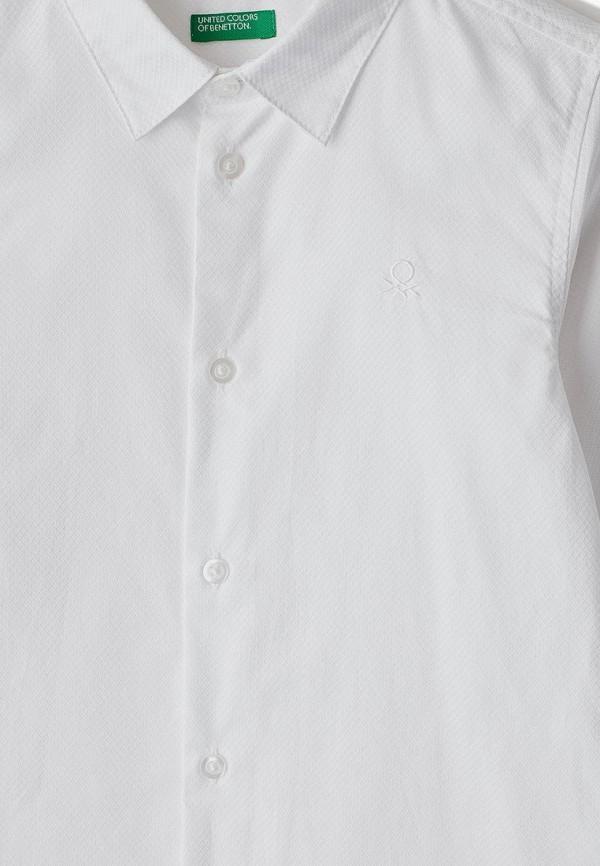 Фото 3 - Рубашку United Colors of Benetton белого цвета
