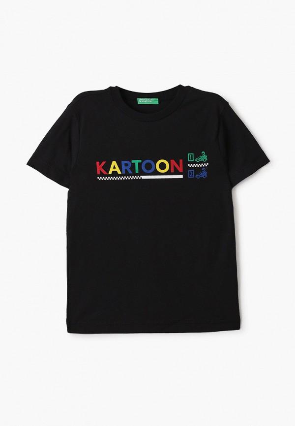футболка с коротким рукавом united colors of benetton для мальчика, черная