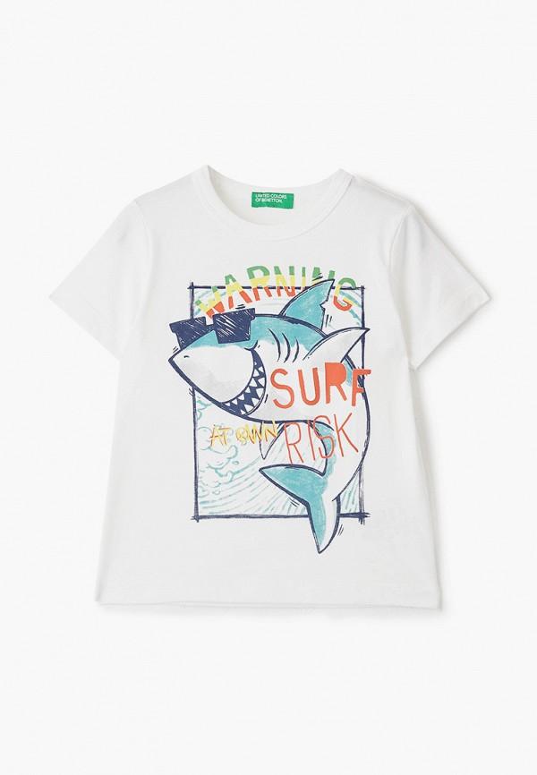 футболка с коротким рукавом united colors of benetton для мальчика, белая