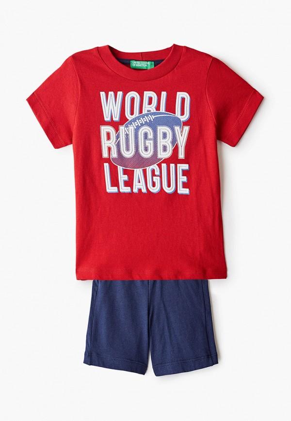спортивный костюм united colors of benetton для мальчика, разноцветный