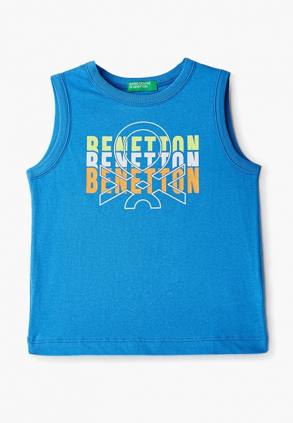 майка united colors of benetton для мальчика, голубая