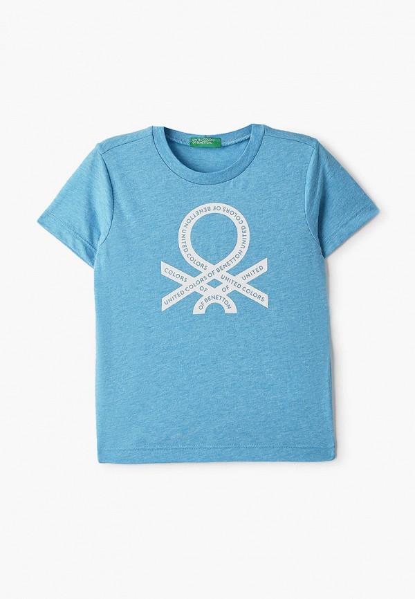 футболка с коротким рукавом united colors of benetton для мальчика, голубая