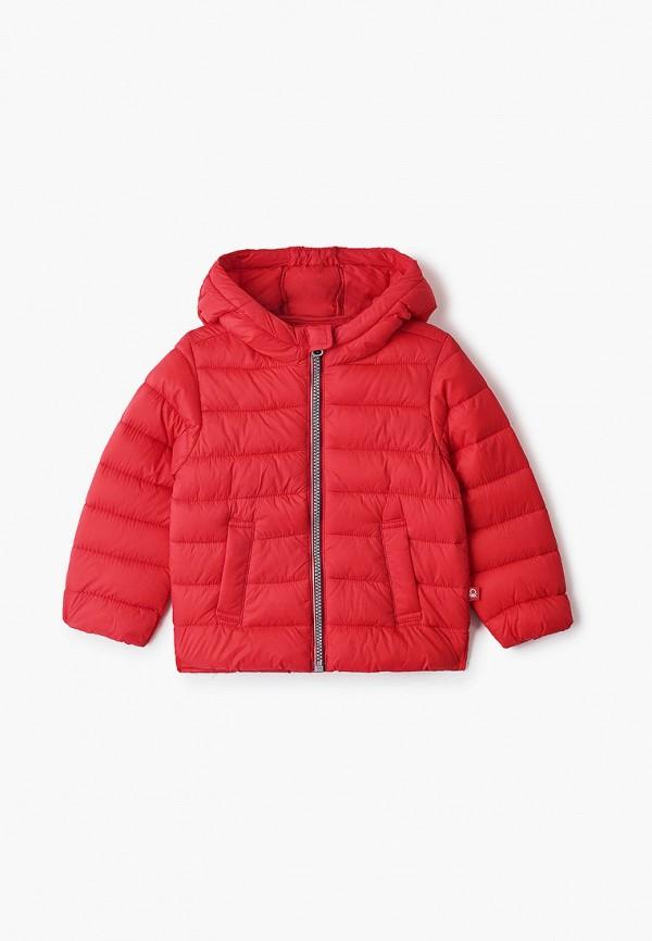 утепленные куртка united colors of benetton для мальчика, красная