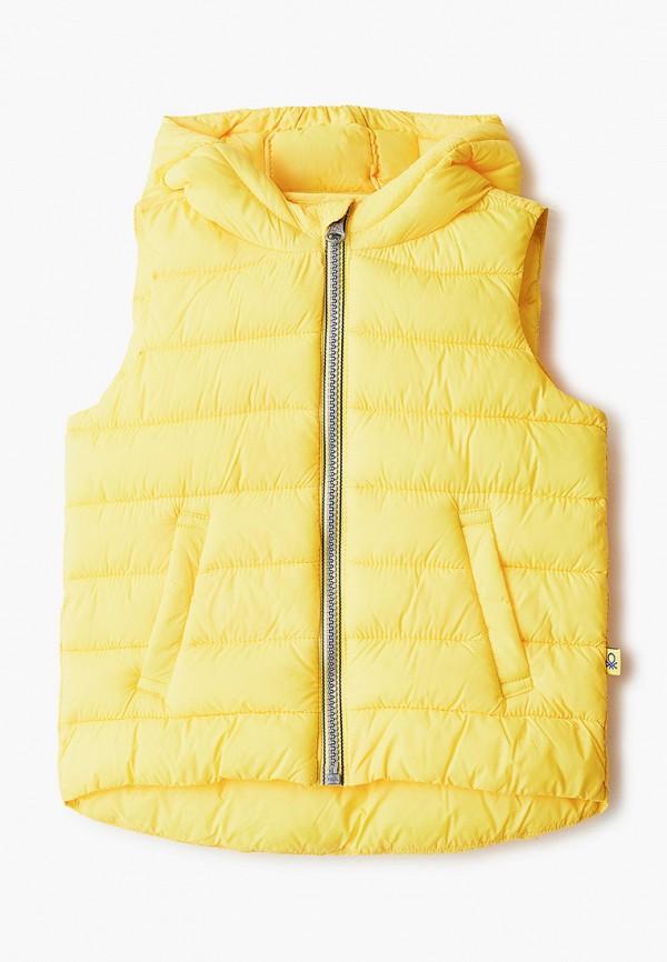 утепленные жилет united colors of benetton для мальчика, желтый