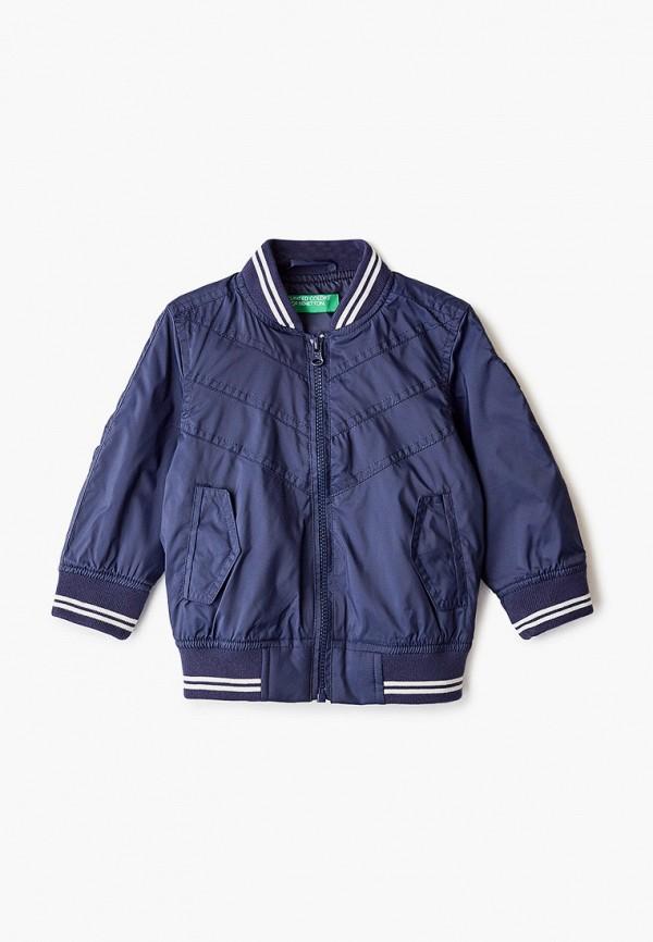 легкие куртка united colors of benetton для мальчика, синяя