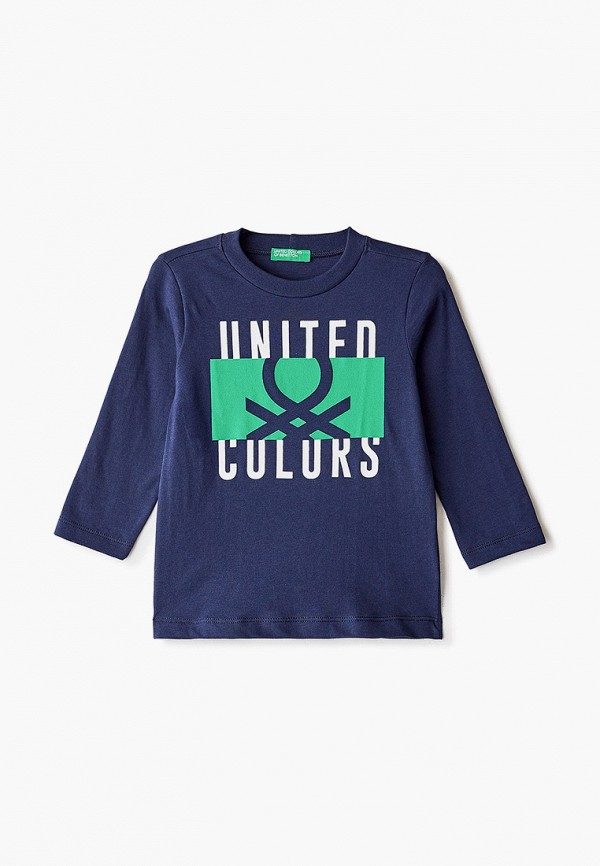 лонгслив united colors of benetton для мальчика, синий