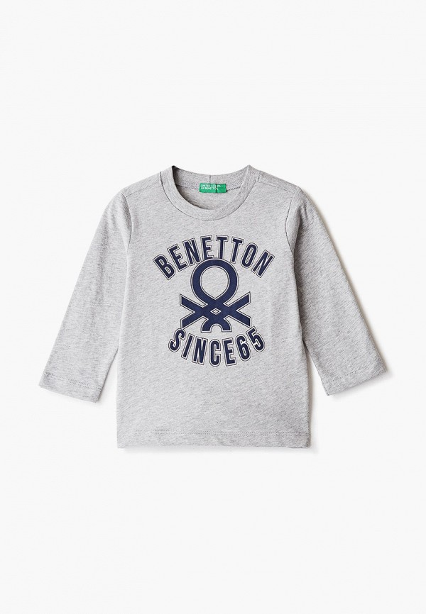 лонгслив united colors of benetton для мальчика, серый