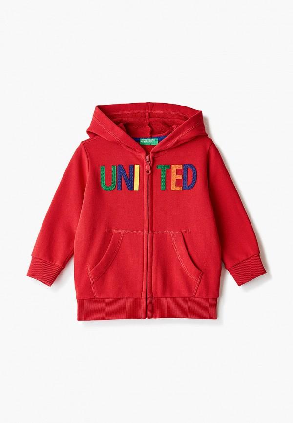 толстовка united colors of benetton для мальчика, красная