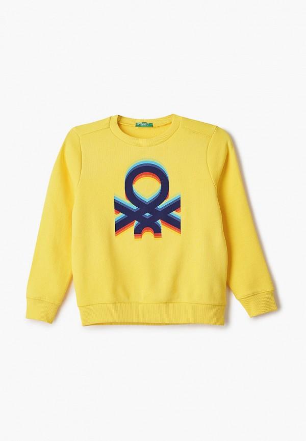 свитшот united colors of benetton для мальчика, желтый