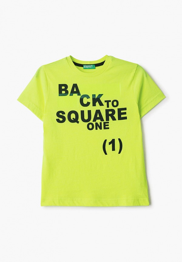 футболка с коротким рукавом united colors of benetton для мальчика, желтая