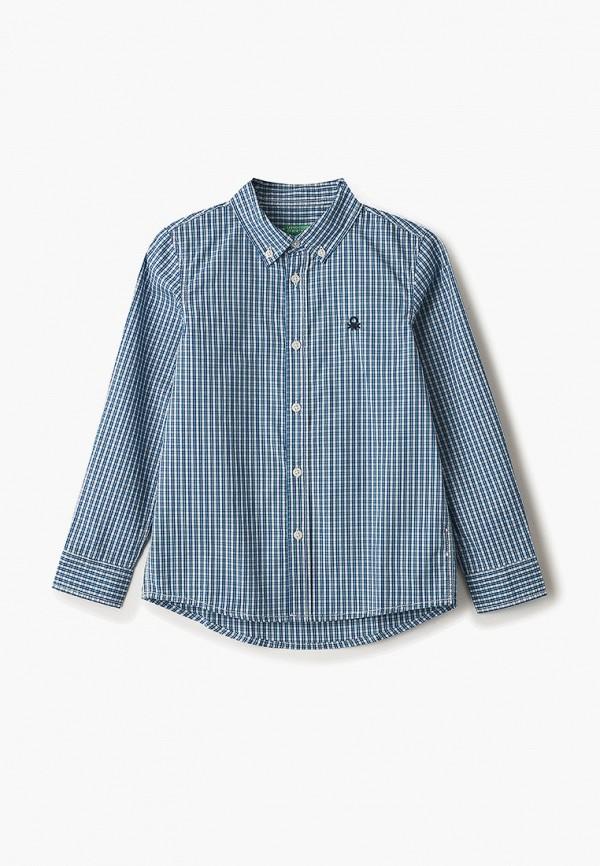 рубашка united colors of benetton для мальчика, синяя