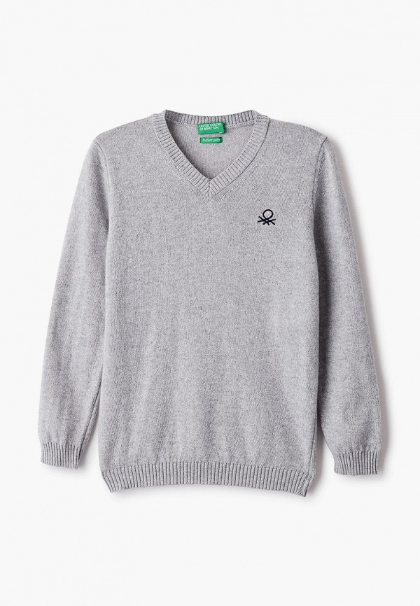 пуловер united colors of benetton для мальчика, серый