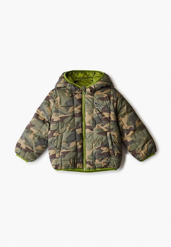 утепленные куртка united colors of benetton для мальчика, зеленая