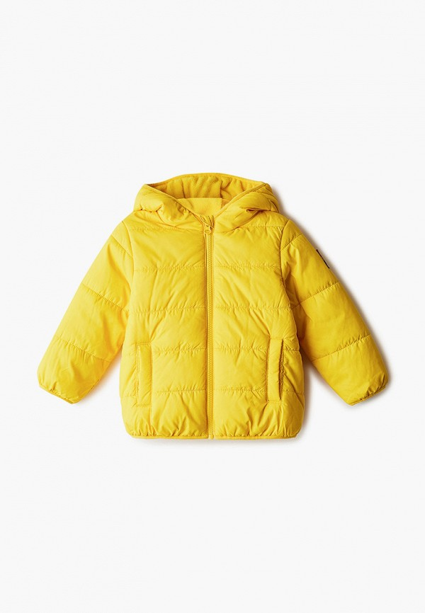 куртка united colors of benetton для мальчика, желтая