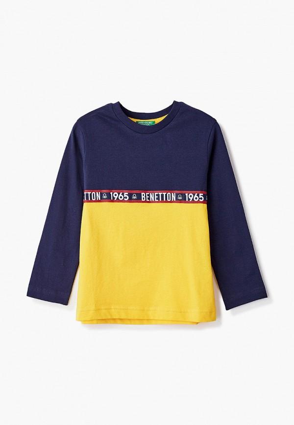 лонгслив united colors of benetton для мальчика, разноцветный