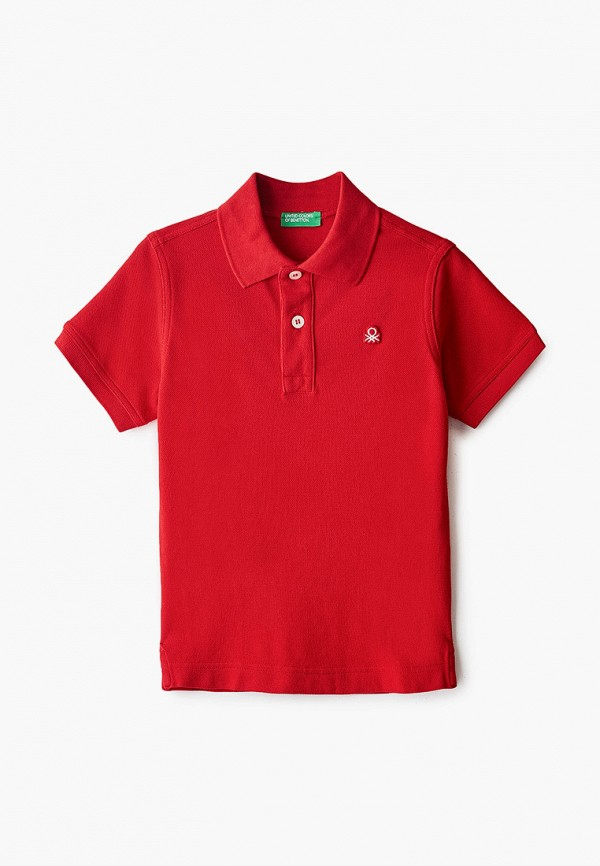 поло united colors of benetton для мальчика, красное