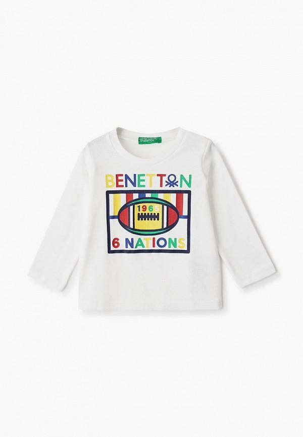 лонгслив united colors of benetton для мальчика, белый