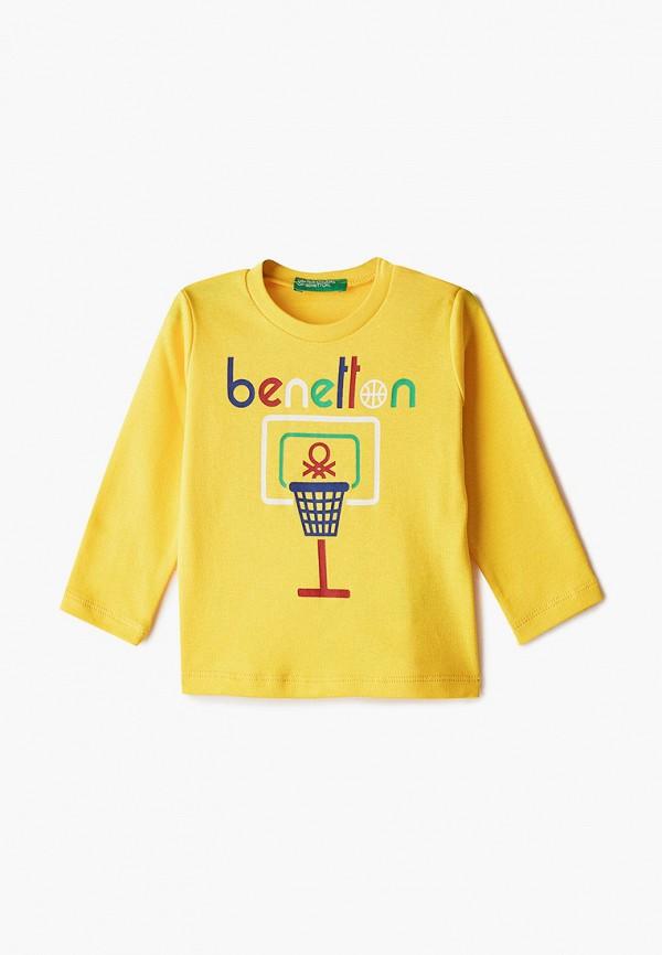 лонгслив united colors of benetton для мальчика, желтый