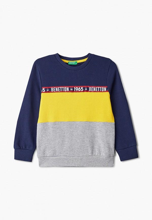 свитшот united colors of benetton для мальчика, разноцветный