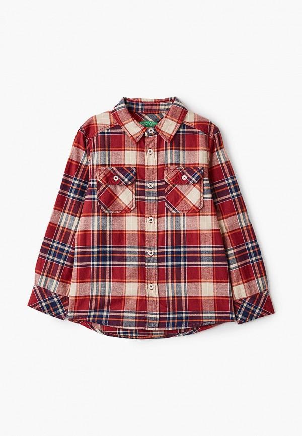рубашка united colors of benetton для мальчика, бордовая