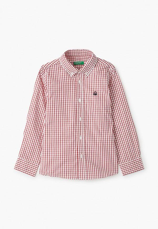 рубашка united colors of benetton для мальчика, красная