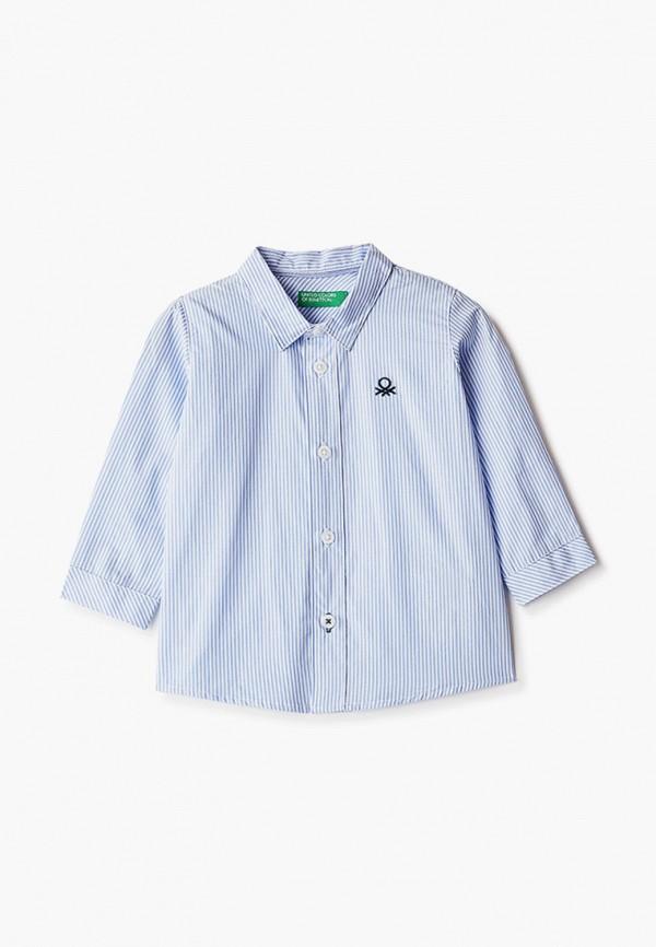 рубашка united colors of benetton для мальчика, голубая