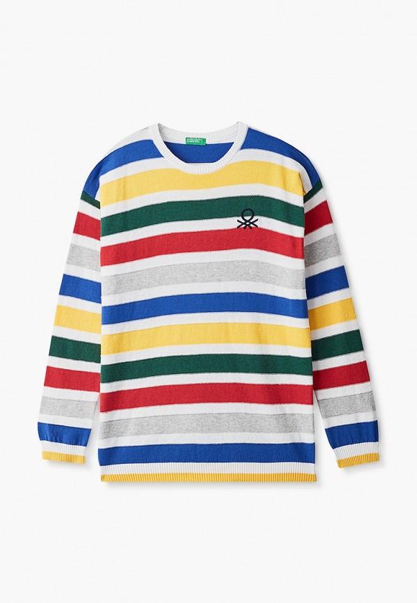 джемпер united colors of benetton для мальчика, разноцветный