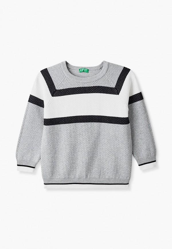 джемпер united colors of benetton для мальчика, серый