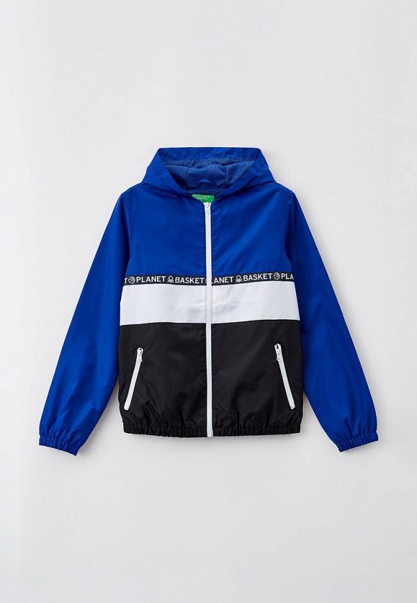 ветровка united colors of benetton для мальчика, синяя