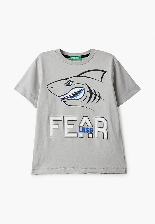 футболка с коротким рукавом united colors of benetton для мальчика, серая