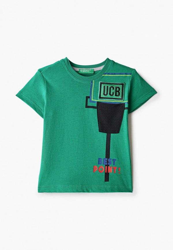 футболка с коротким рукавом united colors of benetton для мальчика, зеленая