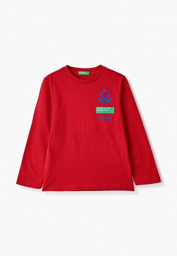 лонгслив united colors of benetton для мальчика, красный