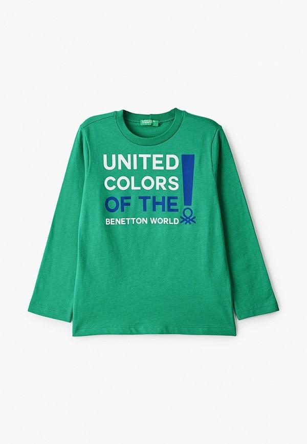 лонгслив united colors of benetton для мальчика, зеленый