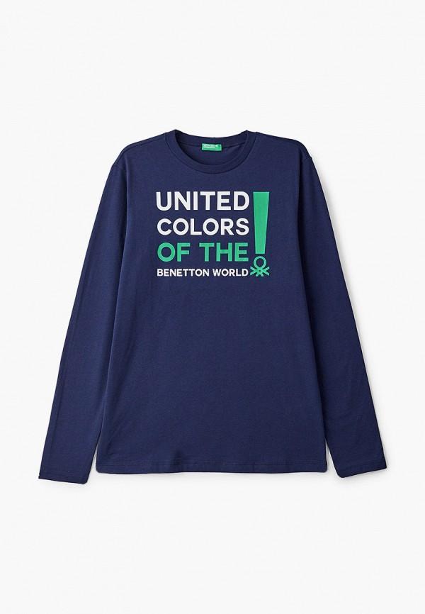 лонгслив united colors of benetton для мальчика, синий
