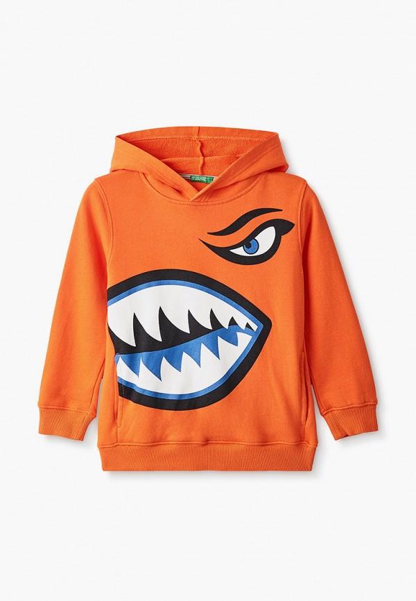 худи united colors of benetton для мальчика, оранжевые