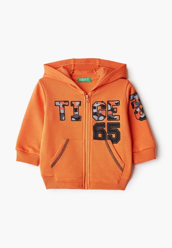 толстовка united colors of benetton для мальчика, оранжевая
